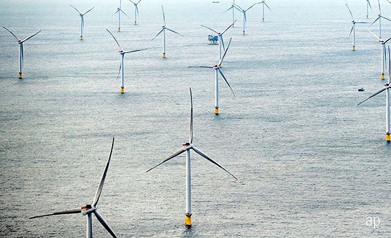 Wind farm sustainable article