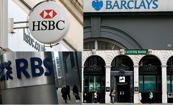 HSBC Barclays Lloyds RBS