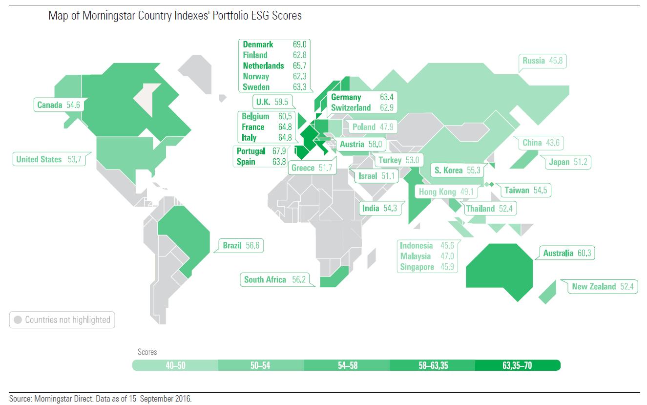 La mappa mondiale degli ESG score