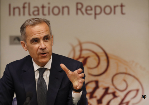 Mark Carney, Bank of England, interest rates, GDP, UK economy