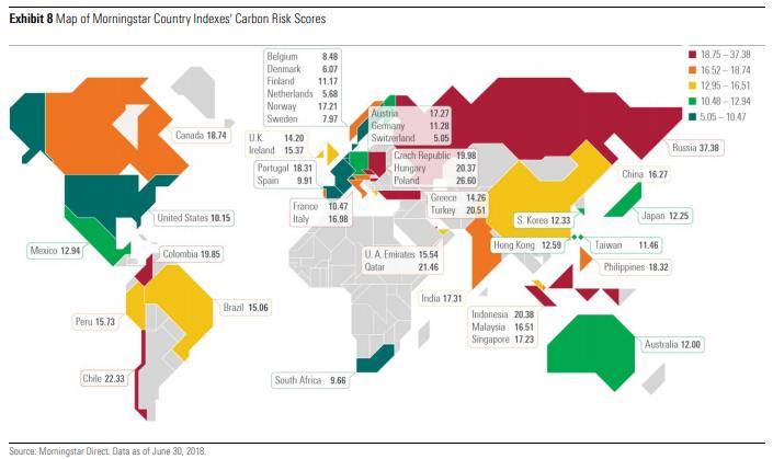 Kart over karbonrisiko september 2018