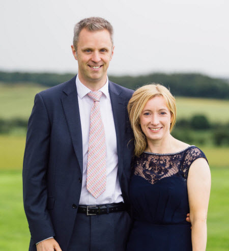 Investment manager Matthew Harris with his wife